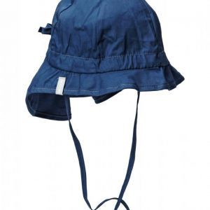 Melton Hat W/Neck & Bow Solid Col Hellehattu