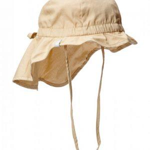 Melton Hat W/Neck & Bow Solid Col Hellehattu